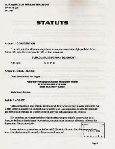 Statuts SCPB
