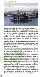 Article Petit Journal de Bernes - Octobre 2015 - Article seul
