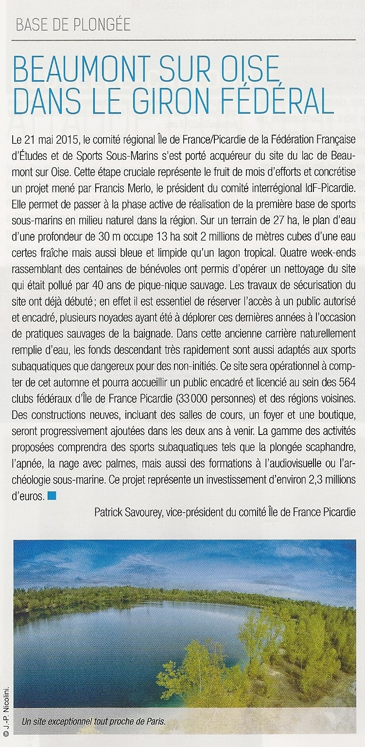 Article SUBAQUA 261 Juil-Aout 2015 - Page 12